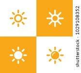 sun icons collection. vector... | Shutterstock .eps vector #1029108352
