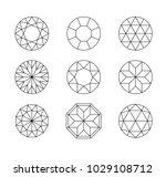 diamond. vector set of gems... | Shutterstock .eps vector #1029108712