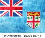 watercolor flag background. fiji | Shutterstock . vector #1029110746