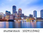 financial district skyline and... | Shutterstock . vector #1029115462