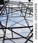 steel scaffolding for the... | Shutterstock . vector #1029118558