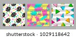 colorful geometric seamless... | Shutterstock .eps vector #1029118642