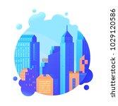 skyscraper and modern tall...   Shutterstock .eps vector #1029120586