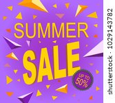 sale summer price isolated offer | Shutterstock .eps vector #1029143782