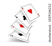 set of four aces deck of cards... | Shutterstock .eps vector #1029146212