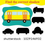 find silhouette of bus. game... | Shutterstock .eps vector #1029146932