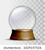 empty snow globe. magic glass... | Shutterstock .eps vector #1029147526