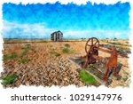 watercolour painting of an...   Shutterstock . vector #1029147976