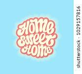 "hand drawn lettering   "" ome... | Shutterstock .eps vector #1029157816"