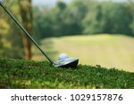 blurred golf club and golf ball ... | Shutterstock . vector #1029157876