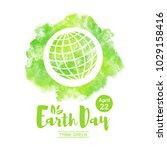 world earth day illustration.... | Shutterstock .eps vector #1029158416