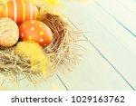 easter background. easter... | Shutterstock . vector #1029163762