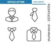 office attire icons....   Shutterstock .eps vector #1029164356