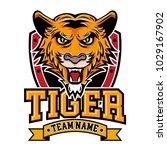 tiger logo badge   Shutterstock .eps vector #1029167902