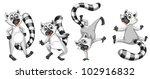 Illustration Of A Set Of Lemurs