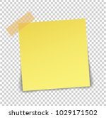paper sheet on translucent... | Shutterstock .eps vector #1029171502