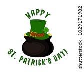 happy st. patrick's day... | Shutterstock .eps vector #1029171982