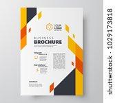 flyer brochure design template... | Shutterstock .eps vector #1029173818