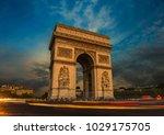 street view of the arc d...   Shutterstock . vector #1029175705