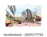 louisville city in kentucky ... | Shutterstock .eps vector #1029177742