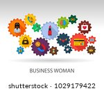 business woman flat icon... | Shutterstock .eps vector #1029179422