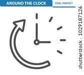 around the clock icon.... | Shutterstock .eps vector #1029187126