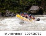Raft Water River White Ecuador...