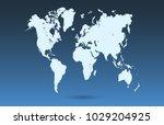 world map vector   Shutterstock .eps vector #1029204925