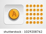 alphabet from pills. letters of ... | Shutterstock .eps vector #1029208762
