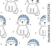 hand drawn seamless pattern... | Shutterstock .eps vector #1029212536