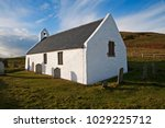 the church at mwnt dates back... | Shutterstock . vector #1029225712