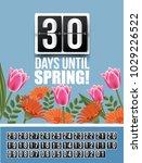 countdown to spring flip... | Shutterstock .eps vector #1029226522