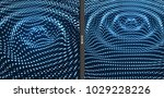 rippled background template.... | Shutterstock .eps vector #1029228226