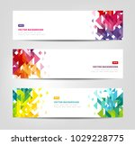 abstract banners   website... | Shutterstock .eps vector #1029228775