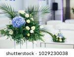 centerpiece made of green... | Shutterstock . vector #1029230038