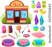 pet shop or salon objects set... | Shutterstock .eps vector #1029232642