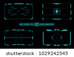 hud futuristic user screen... | Shutterstock .eps vector #1029242545