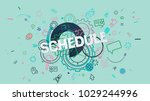 colorful trendy banner with... | Shutterstock . vector #1029244996