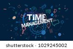 colorful trendy banner with... | Shutterstock . vector #1029245002