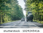 two crashed cars after accident ... | Shutterstock . vector #1029245416