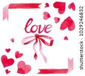vector watercolor style... | Shutterstock .eps vector #1029246832