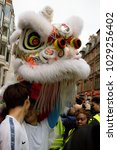 London, United Kingdom, 18th Febuary 2018:-Festivities to celebrate Chinese New Year In London's Chinatown area and surrounding streets for the year of the dog 2018 - stock photo