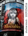 London, United Kingdom, 18th Febuary 2018:- Les Miserables at the Queen's theatre in London's theatreland - stock photo
