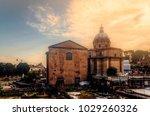 santi luca e martina church... | Shutterstock . vector #1029260326