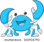 cute blue crab cartoon | Shutterstock .eps vector #102926792
