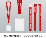 vector illustration of lanyard... | Shutterstock .eps vector #1029270532