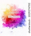 holi background for festival...   Shutterstock .eps vector #1029274702