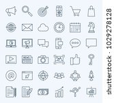 line marketing icons. vector... | Shutterstock .eps vector #1029278128