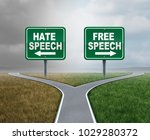 free speech and hate talk as... | Shutterstock . vector #1029280372