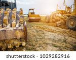 heavy machinery working at... | Shutterstock . vector #1029282916
